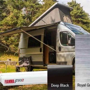 Fiamma F80S Deep Black - Royal Grey 400 cm